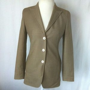 Escada women's blazer Size 34 beige New wool work